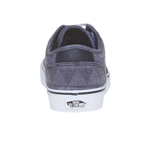 Sneakers da uomo con motivo vans, nero, 889-6199 - 17