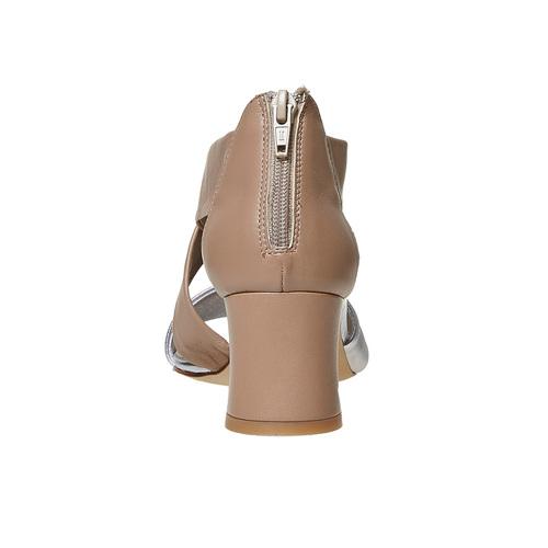 Sandali da donna in pelle con tacco bata, bianco, 764-1684 - 17