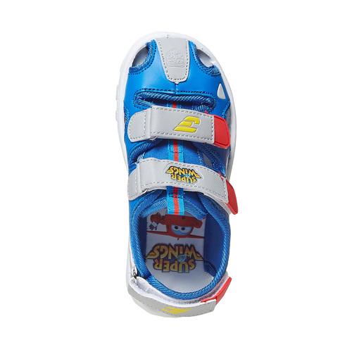 Sandali da bambino con stampa, blu, 261-9195 - 19