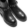 Ankle Boots da donna con borchie bata, nero, 591-6163 - 15