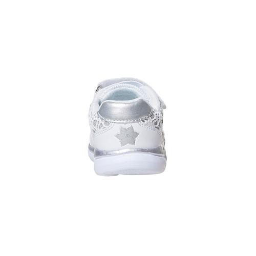 Sneakers da bambina con pizzo e stampa, bianco, 229-1188 - 17