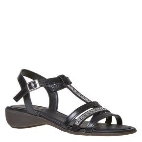 Sandali in pelle da donna con strass sundrops, nero, 564-6402 - 13