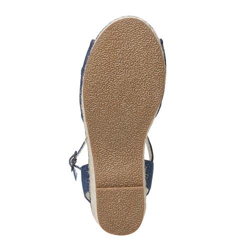 Sandali da bambina con plateau basso mini-b, blu, 369-9219 - 26