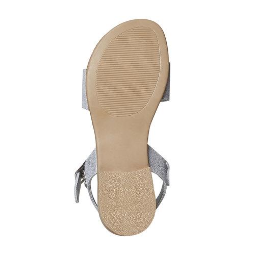 Sandali in pelle da bambina con frange mini-b, bianco, 363-1224 - 26