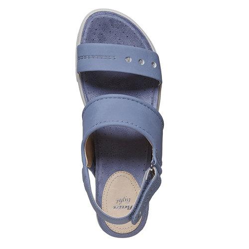 Sandali blu con suola appariscente bata, blu, 561-9303 - 19