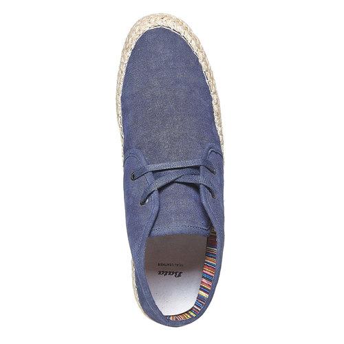 Scarpe blu da uomo con iuta, viola, 859-9249 - 19