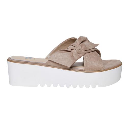Slip-on da donna con flatform bata, beige, 669-2252 - 15