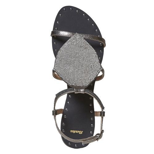 Sandali da donna con strass bata, bianco, 561-1498 - 19
