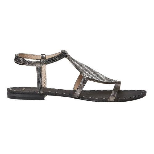 Sandali da donna con strass bata, bianco, 561-1498 - 15