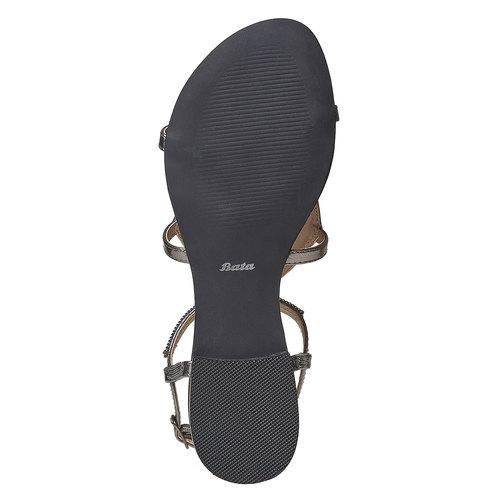 Sandali da donna con strass bata, bianco, 561-1498 - 26