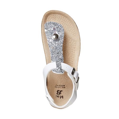 Sandali da bambina con glitter mini-b, bianco, 361-1231 - 19