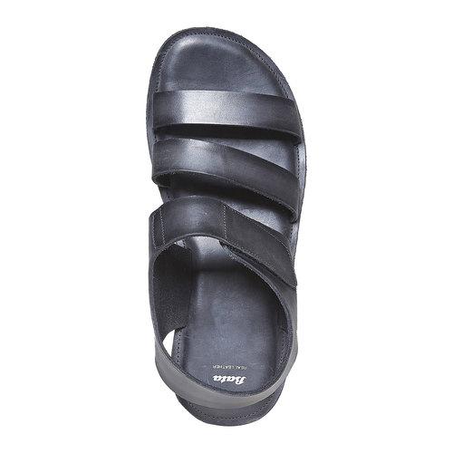 Sandali in pelle da uomo bata, nero, 864-6260 - 19