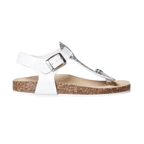 Sandali da bambina con glitter mini-b, bianco, 361-1231 - 15