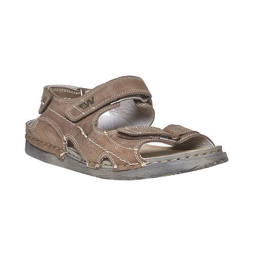Sandali in pelle da uomo weinbrenner, marrone, 866-4278 - 13