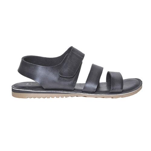 Sandali in pelle da uomo bata, nero, 864-6260 - 15