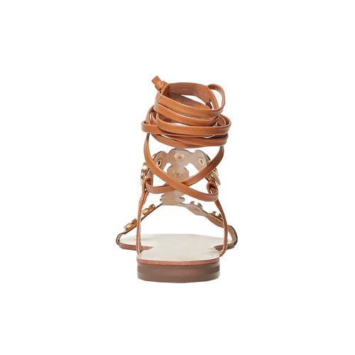 Sandali da donna con lacci, marrone, 561-3496 - 17