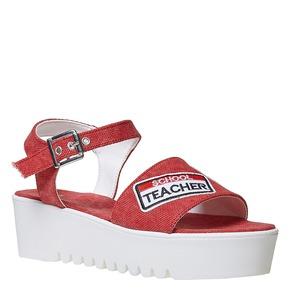 Sandali da donna con applicazioni, rosso, 669-5110 - 13