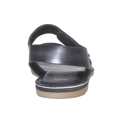 Sandali in pelle da uomo bata, nero, 864-6260 - 17