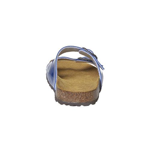 Slip-on blu verniciate bata, blu, 571-9356 - 17