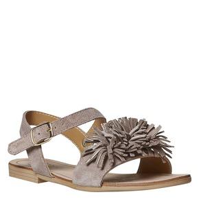 Sandali in pelle da bambina mini-b, marrone, 363-3224 - 13
