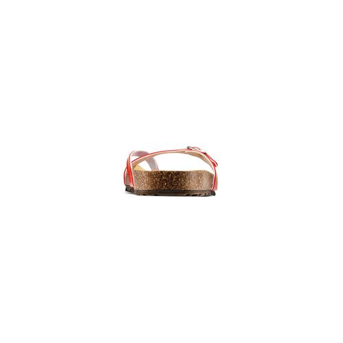 Infradito effetto vernice bata, rosso, 571-5355 - 15