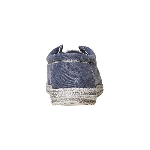 Mocassini casual blu da uomo bata, viola, 859-9280 - 17