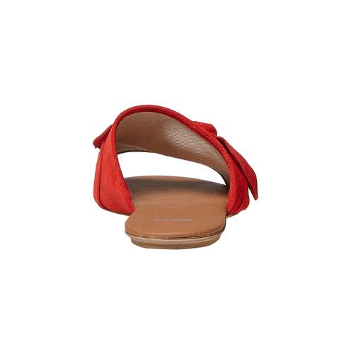 Slip-on in pelle da donna bata, rosso, 563-5411 - 17