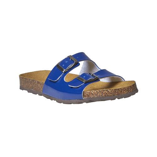 Slip-on blu verniciate bata, blu, 571-9356 - 13