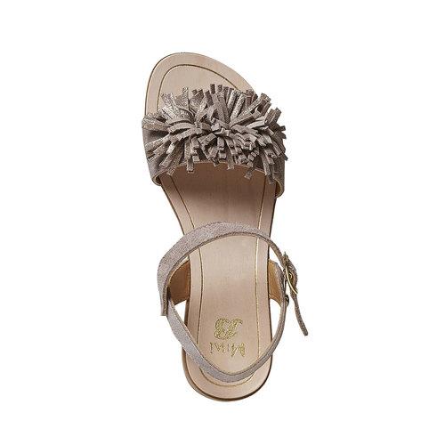 Sandali in pelle da bambina mini-b, beige, 363-3224 - 19