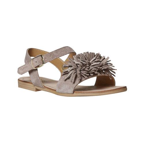 Sandali in pelle da bambina mini-b, beige, 363-3224 - 13