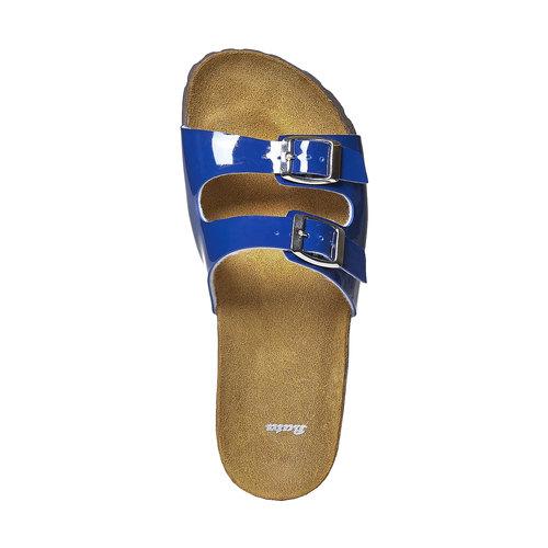 Slip-on blu verniciate bata, blu, 571-9356 - 19