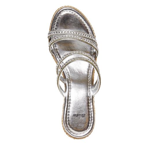 Slip-on da donna con plateau naturale bata, bianco, 771-1104 - 19