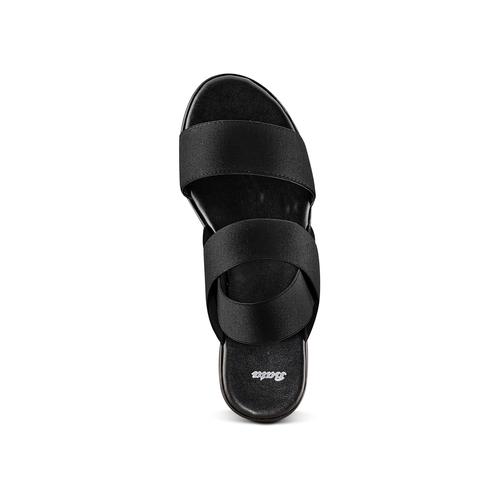 Sandali con fasce elastiche bata, nero, 779-6102 - 17