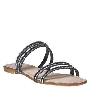 Slip-on nere con strass bata, nero, 571-6353 - 13