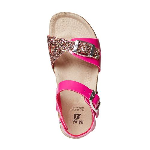 Sandali rosa da bambina con glitter mini-b, rosa, 361-5232 - 19
