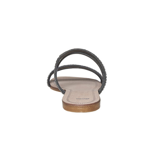 Slip-on nere con strass bata, nero, 571-6353 - 17
