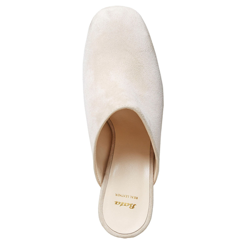 Slip-on in pelle da donna bata, beige, 763-8689 - 15