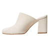Slip-on in pelle da donna bata, beige, 763-8689 - 17