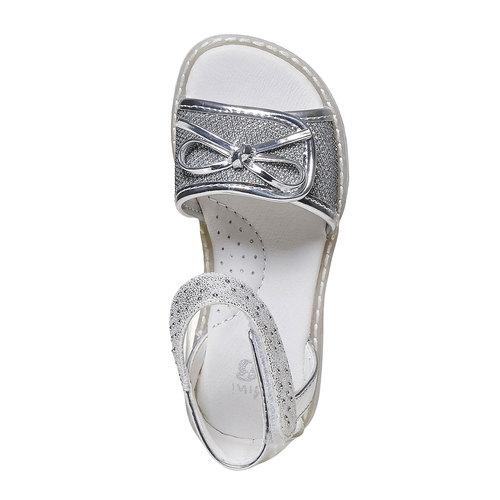 Sandali argentati da ragazza mini-b, grigio, 261-2177 - 19