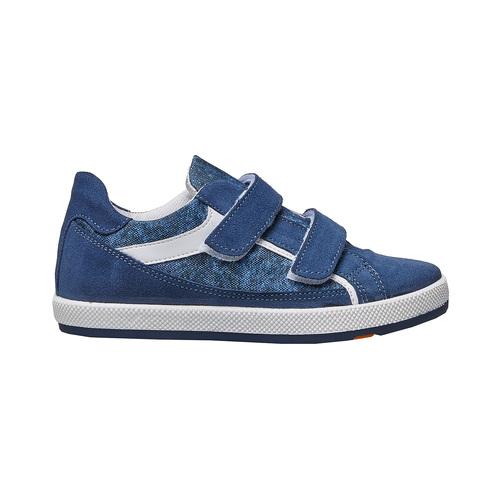 Sneakers da bambino con chiusure a velcro flexible, blu, 311-9244 - 15