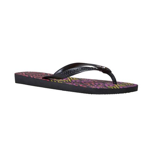 Infradito da donna con motivo colorato havaianas, nero, 572-6351 - 13