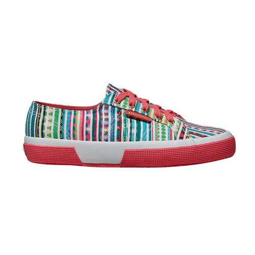 Sneakers con motivo colorato superga, verde, 589-7191 - 15