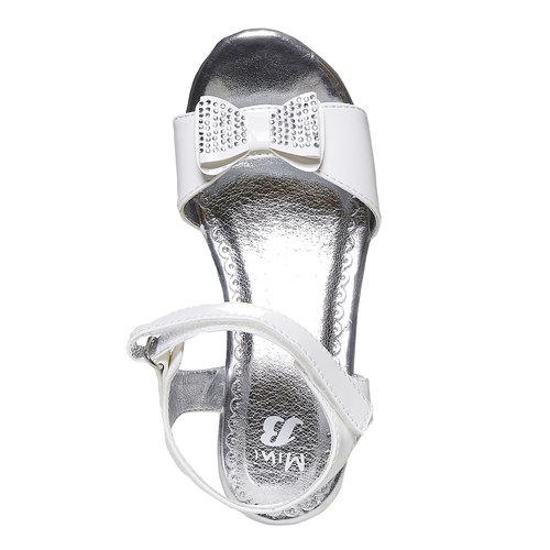 Sandali da ragazza con plateau basso mini-b, bianco, 361-1205 - 19