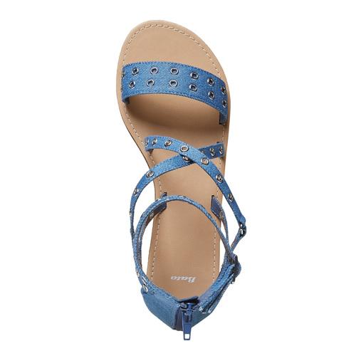 Sandali blu da donna con traforature bata, blu, 569-9410 - 15