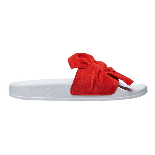 Pool slides scamosciate bata, rosso, 563-5116 - 26
