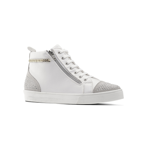 Sneakers alte con strass north-star, bianco, 541-1203 - 13