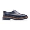Scarpe basse stringate blu bata, blu, 521-9657 - 26