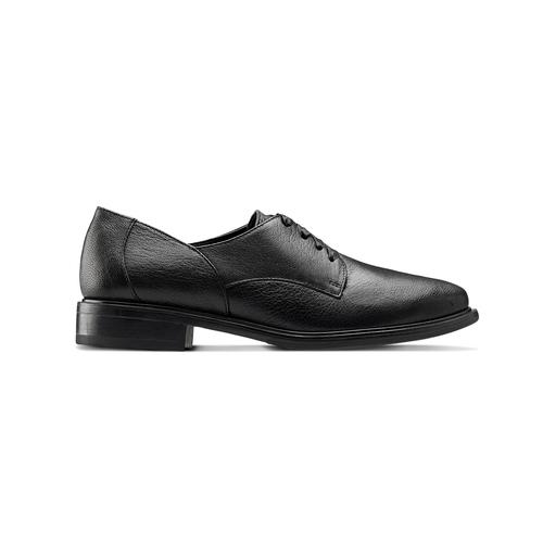 Scarpe stringate in pelle bata, nero, 524-6664 - 26