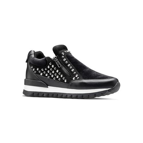 Sneakers nere con strass north-star, nero, 549-6294 - 13