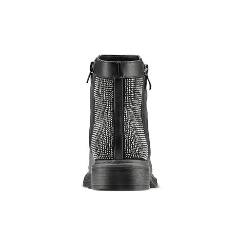 Stivaletti bassi con strass bata, nero, 591-6144 - 16